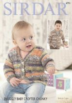 Sirdar Snuggly Baby Crofter Chunky - 4791 Cardigans Knitting Pattern
